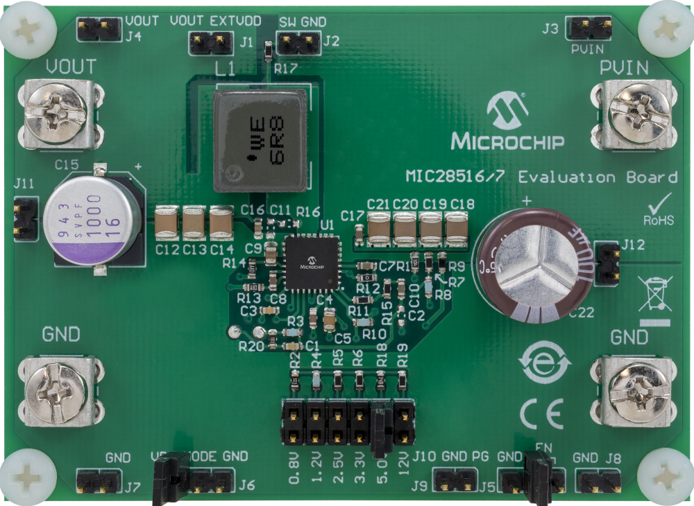 MIC28516 Evaluation Board