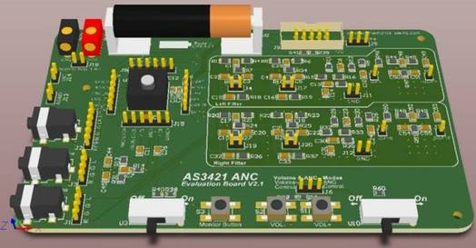 Eval-Kit for AS3421 Active Noise Cancelling IC