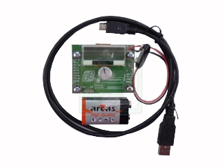 Complete rotary encoder system with built-in MCU, USB interface and graphical LCD
