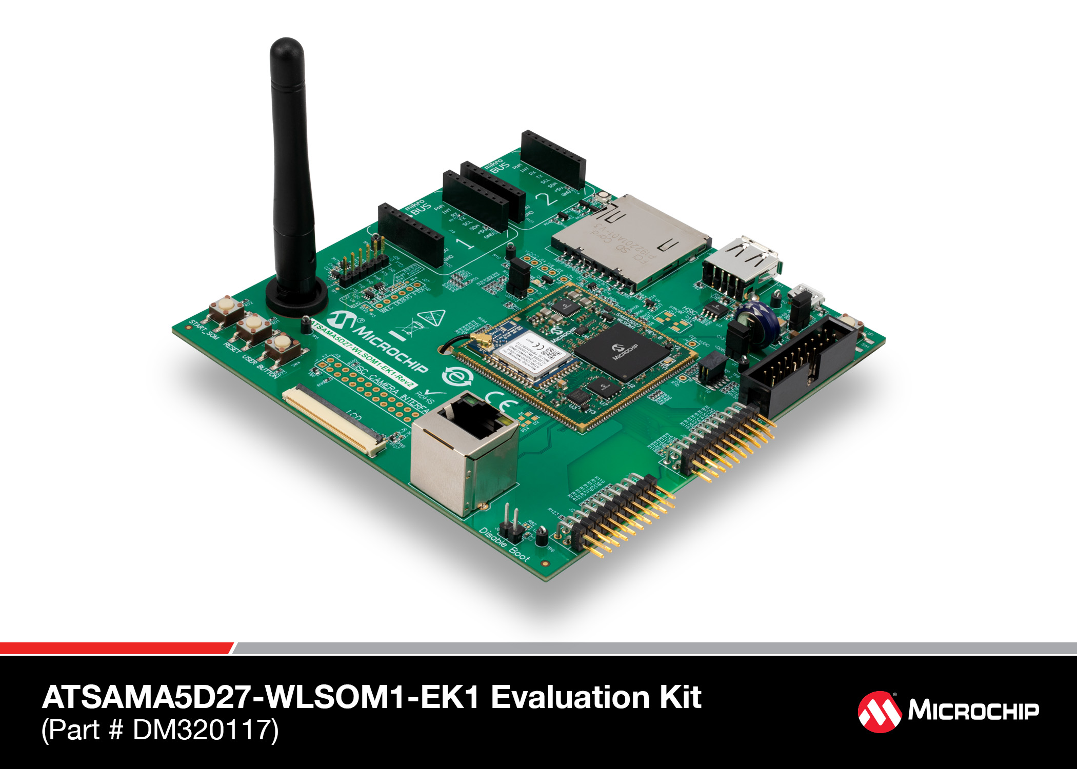 ATSAMA5D27-WLSOM1 Evaluation Kit