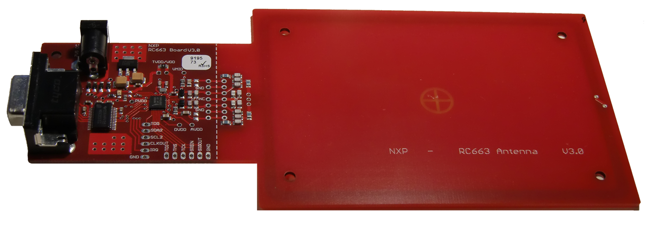 Contactless reader evaluation board