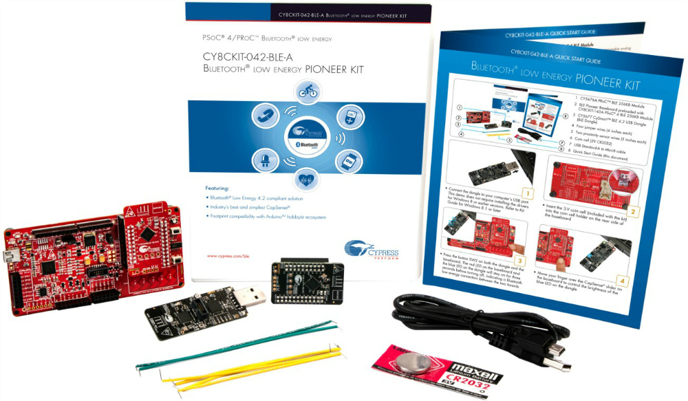 Bluetooth® Low Energy 4.2 Compliant Pioneer Kit