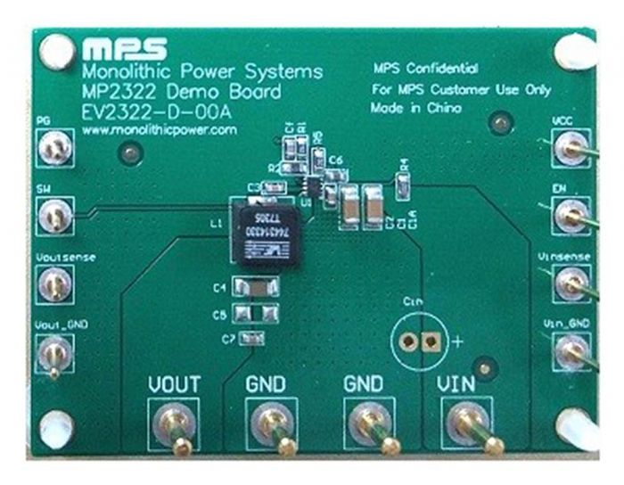 1A, 22V, Low IQ, Step-Down Converter Evaluation Board