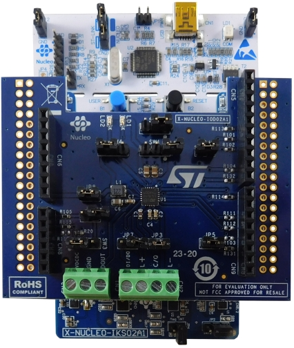 STM32 Nucleo pack for IO-Link device applications based on L6364Q transceiver, industrial sensors and STM32L452RE MCU