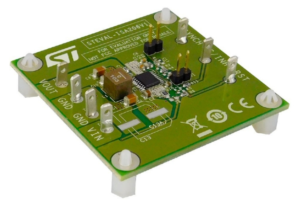 38 V, 2 A synchronous step-down switching regulator evaluation board based on L6986H