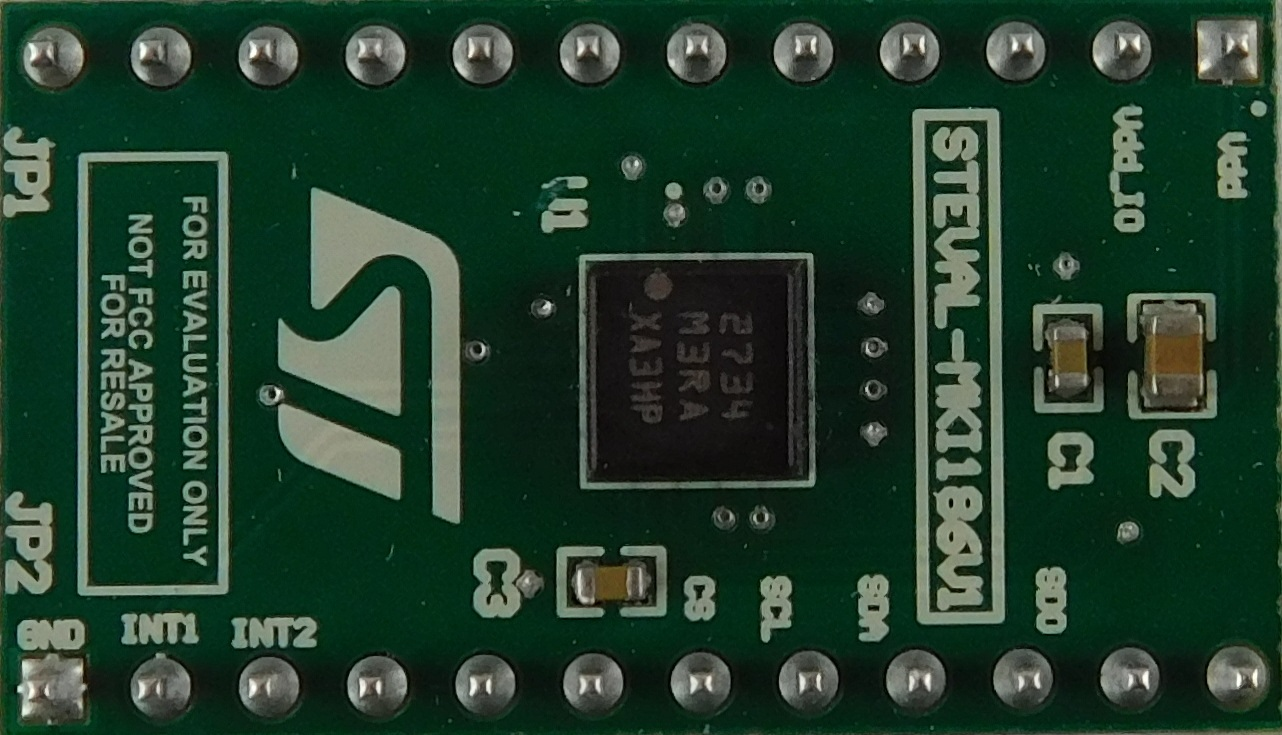 IIS3DHHC adapter board for a standard DIL 24 socket