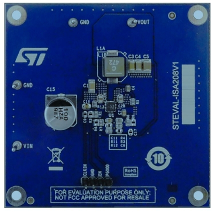 38 V, 3 A synchronous step-down switching regulator evaluation board
