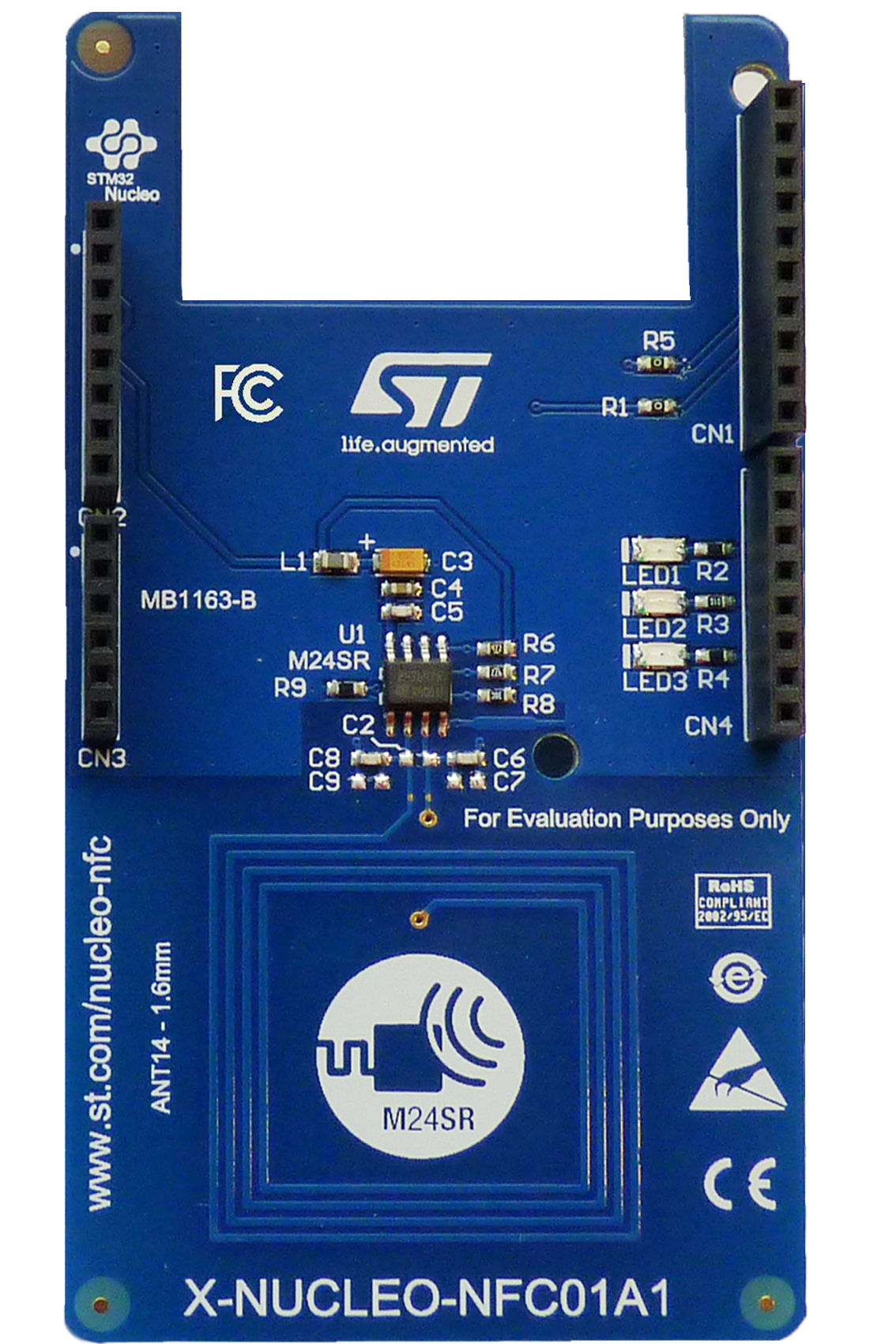 Dynamic NFC tag expansion board based on M24SR for STM32 Nucleo