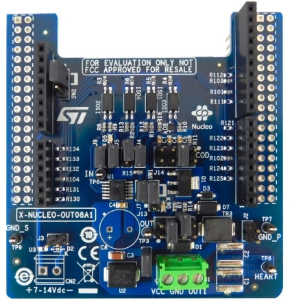 Industrial digital output expansion board based on IPS160HF for STM32 Nucleo