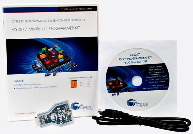 MiniProg1 Programmer Kit With Programmer Board and USB Cable