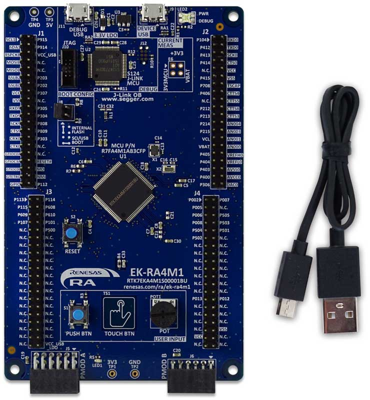 Evaluation Kit for RA4M1 MCU Group