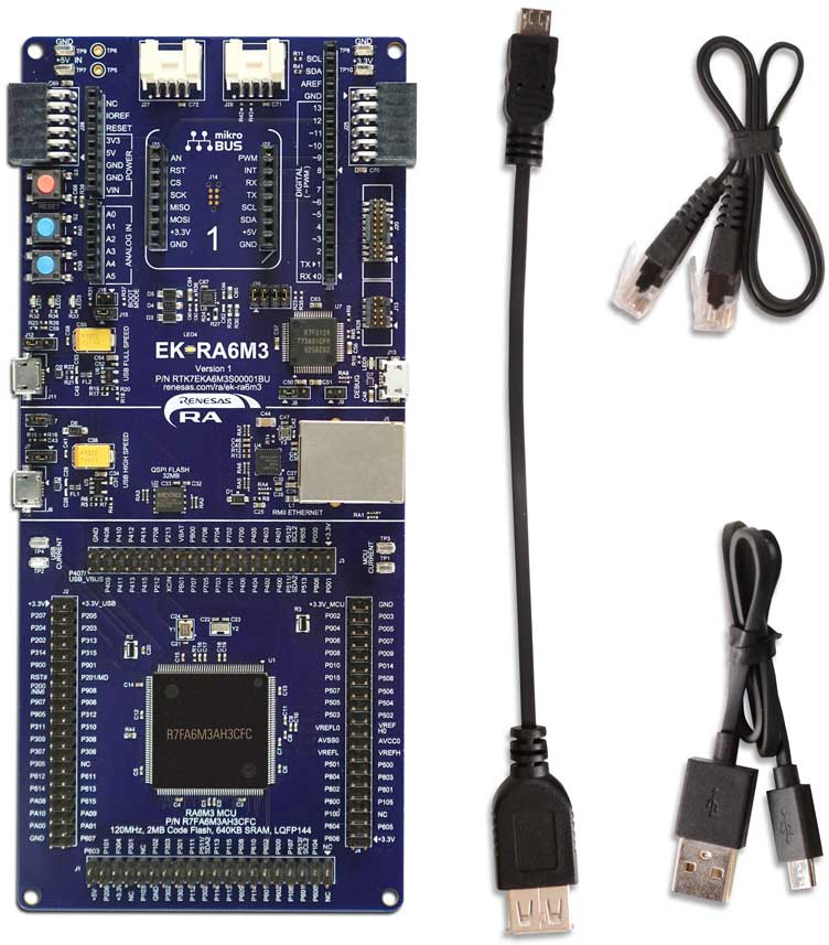 Evaluation Kit for RA6M3 MCU Group