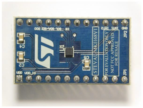 IIS2DH adapter board for a standard DIL 24 socket