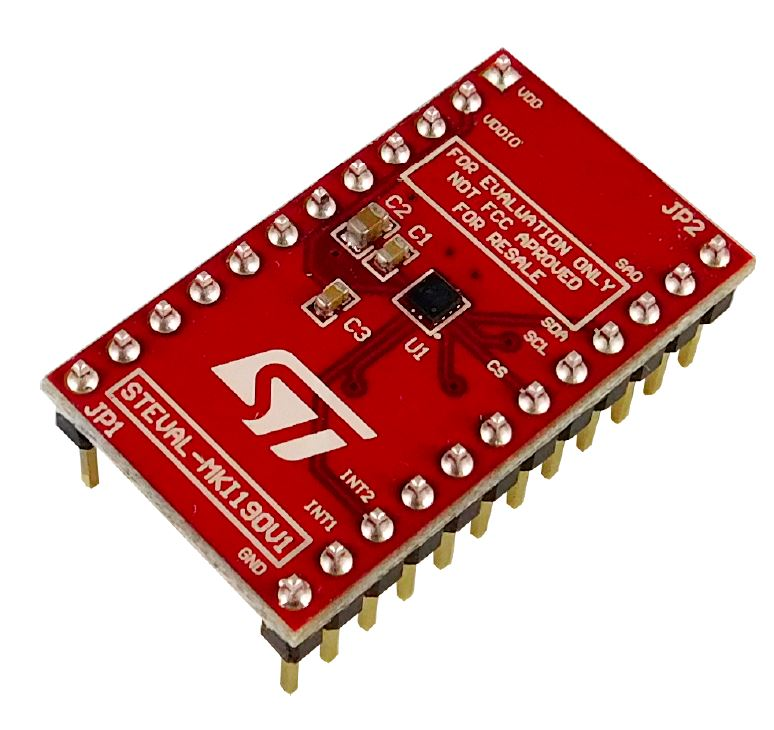 LIS2DTW12 adapter board for a standard DIL 24 socket