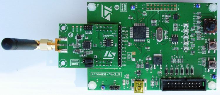 Bluetooth® SMART board based on the BlueNRG low energy network processor