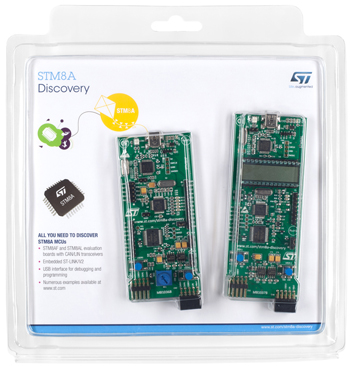Discovery kit for STM8A Automotive series - with STM8AF5288 and STM8AL3L68 MCUs